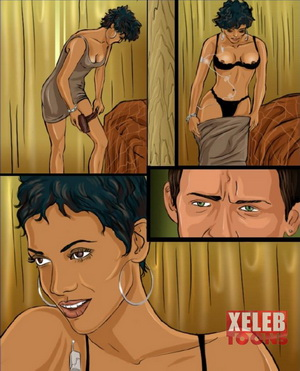 Halle Berry rides cock at Xeleb Toons